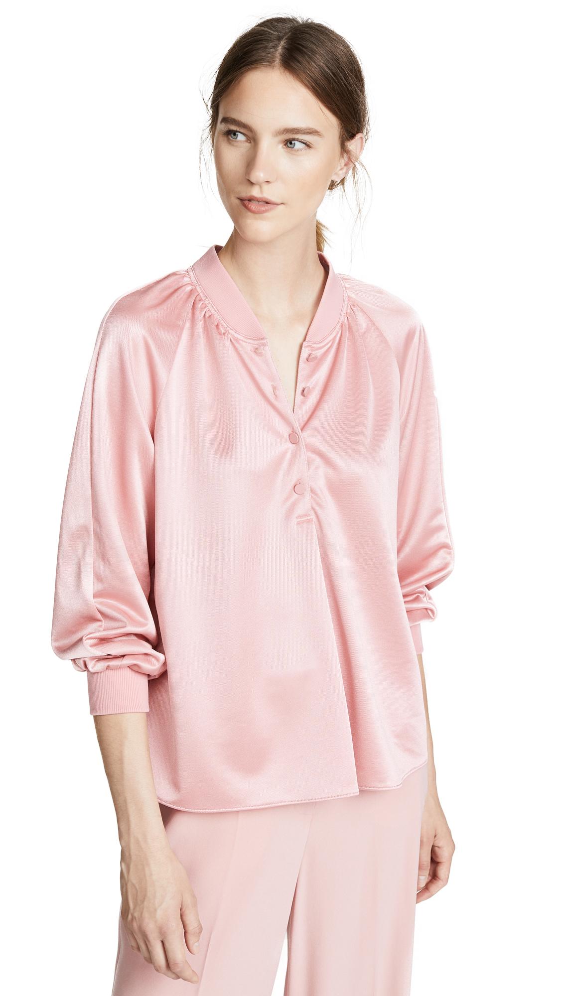 Tibi Raglan Pullover In Pink
