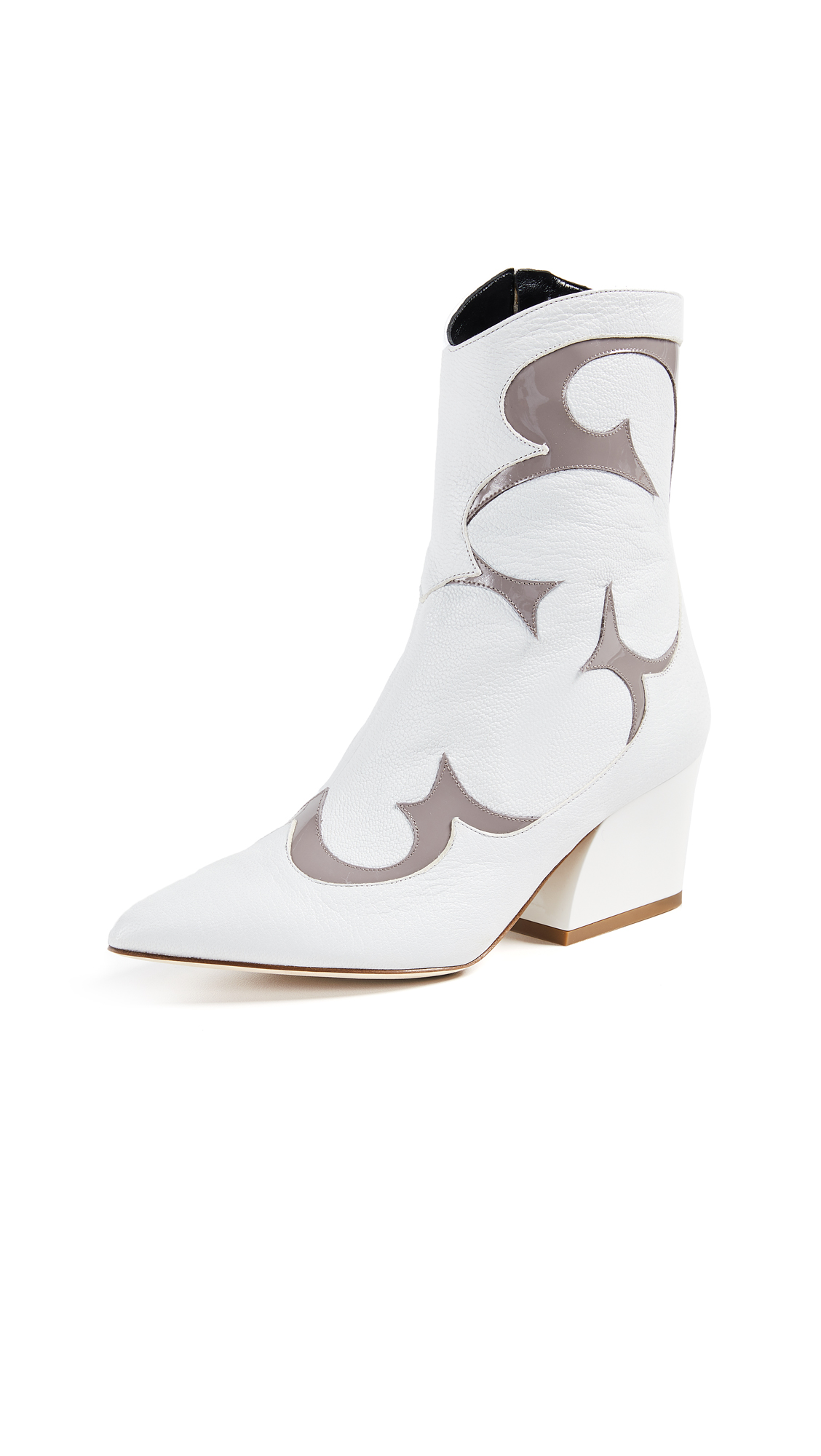 Tibi Felix Boots - Bright White/Grey Multi