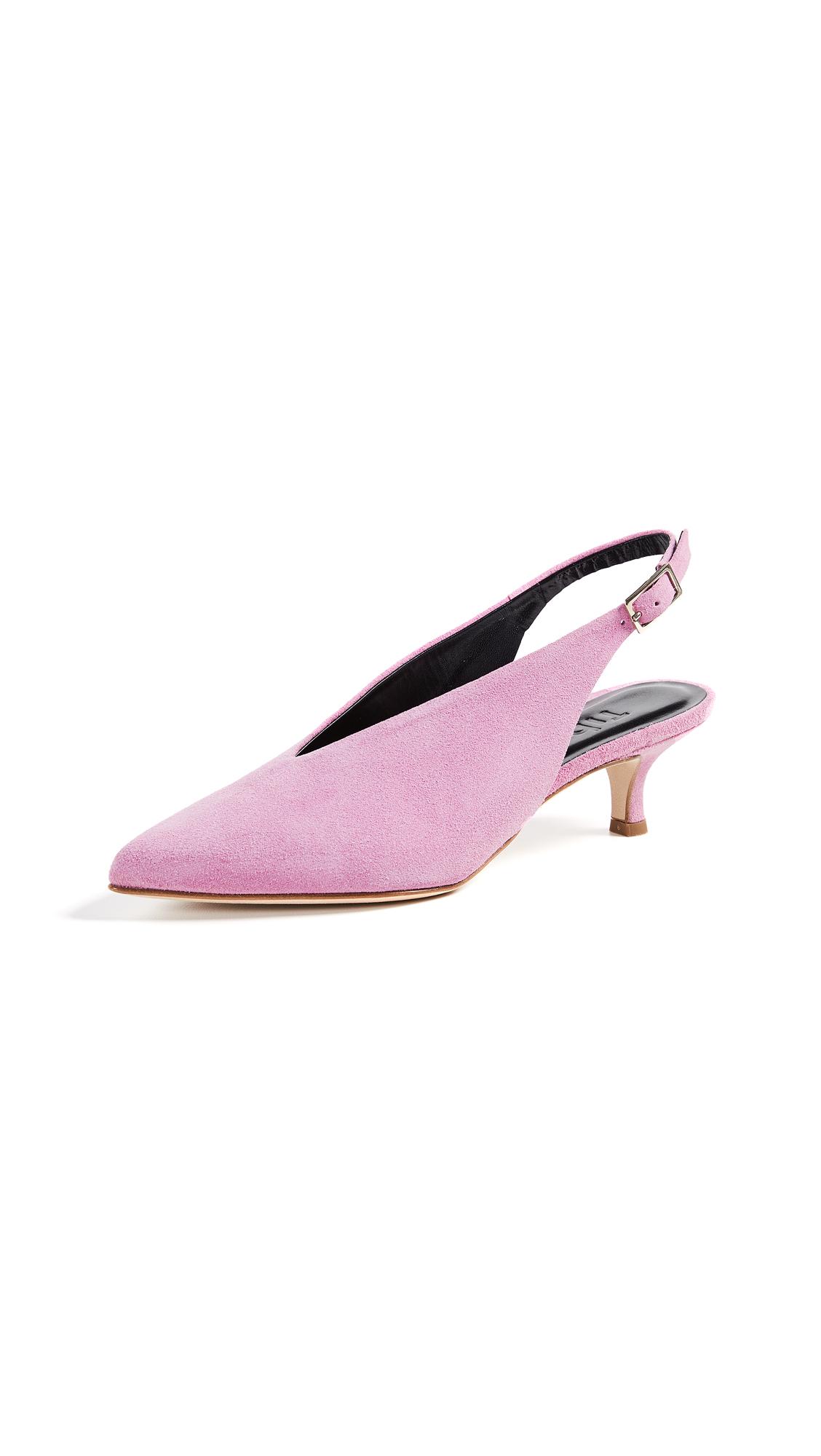 Tibi Lia Slingback Pumps - Pink