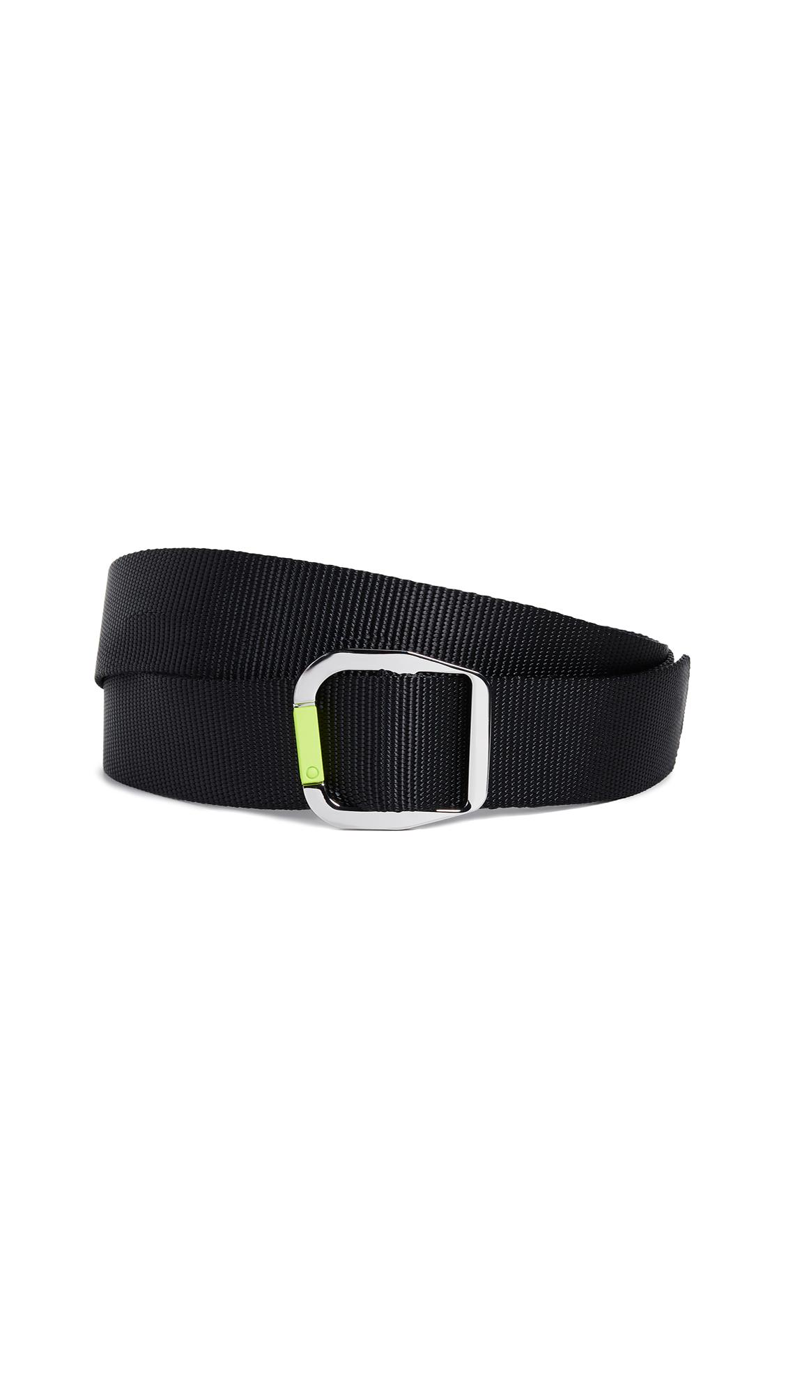 Carabiner Nylon Belt, Black Multi