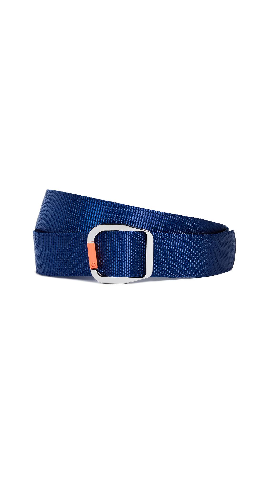 Tibi Carabiner Nylon Belt - Blue Multi