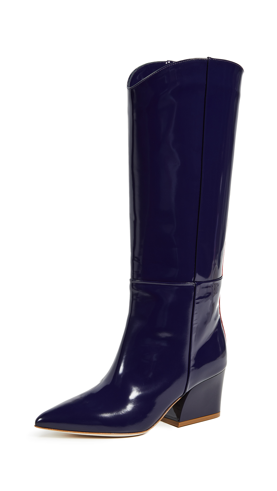Tibi Logan Boots - Violet/Red Multi