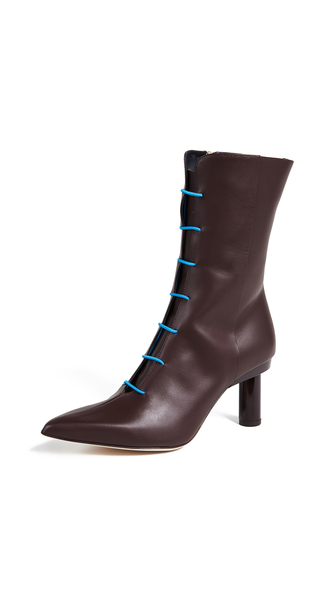 Tibi Adrian Boots - Burgundy/Blue Multi