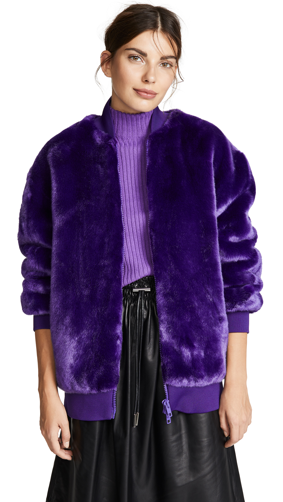 Tibi Zip Up Track Jacket - Purple