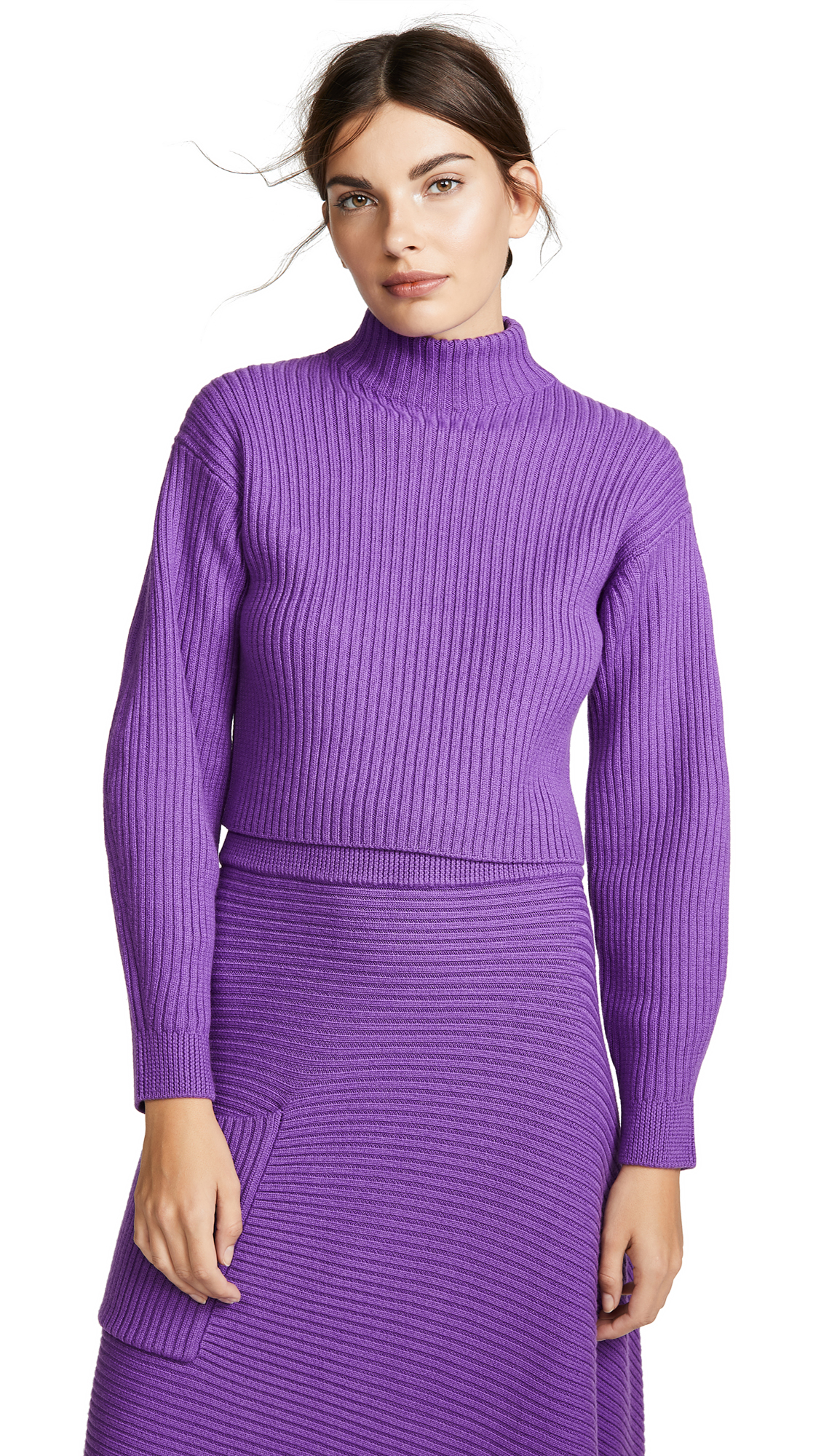 Tibi Structured Pullover - Purple