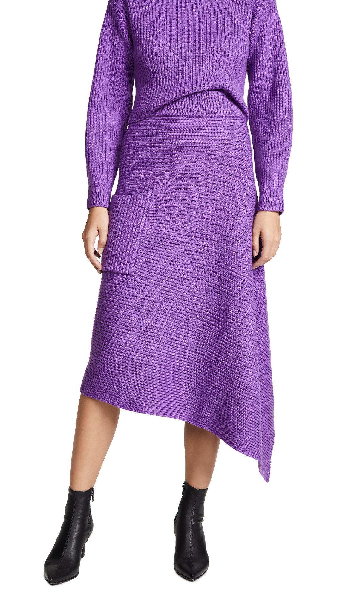 Tibi Origami Wrap Skirt - Purple
