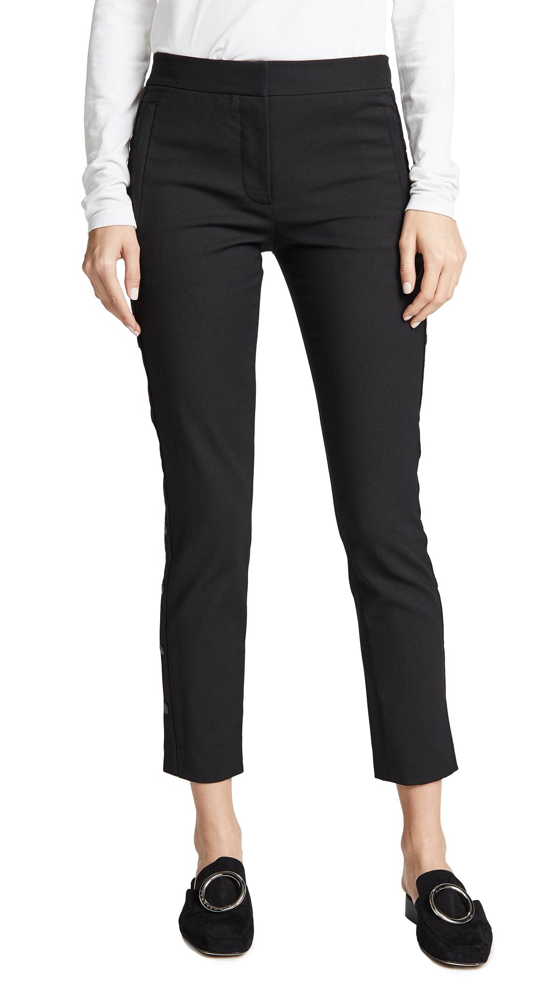 Tibi Cropped Skinny Pants - Black