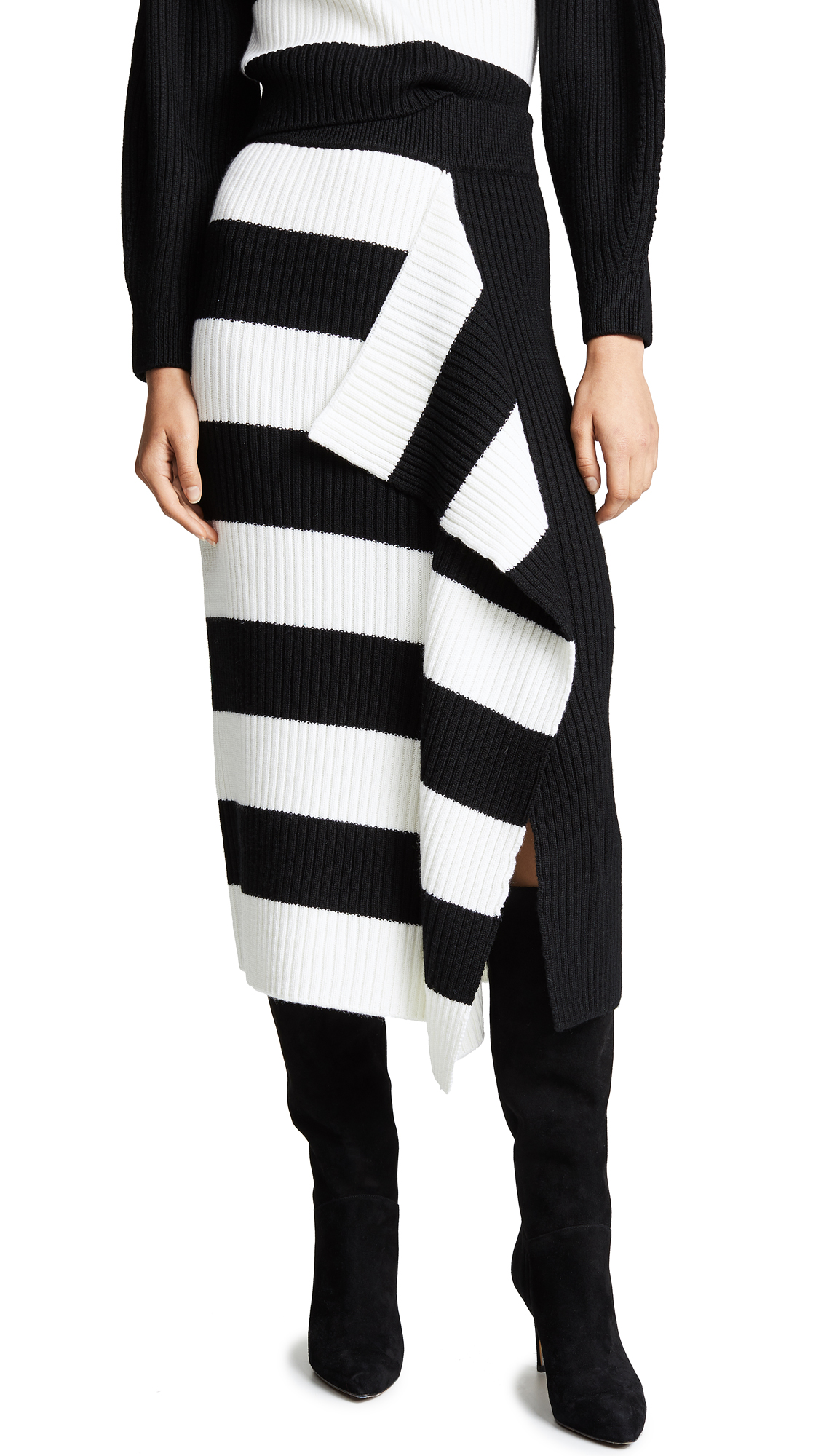 Tibi Origami Flap Wool Skirt