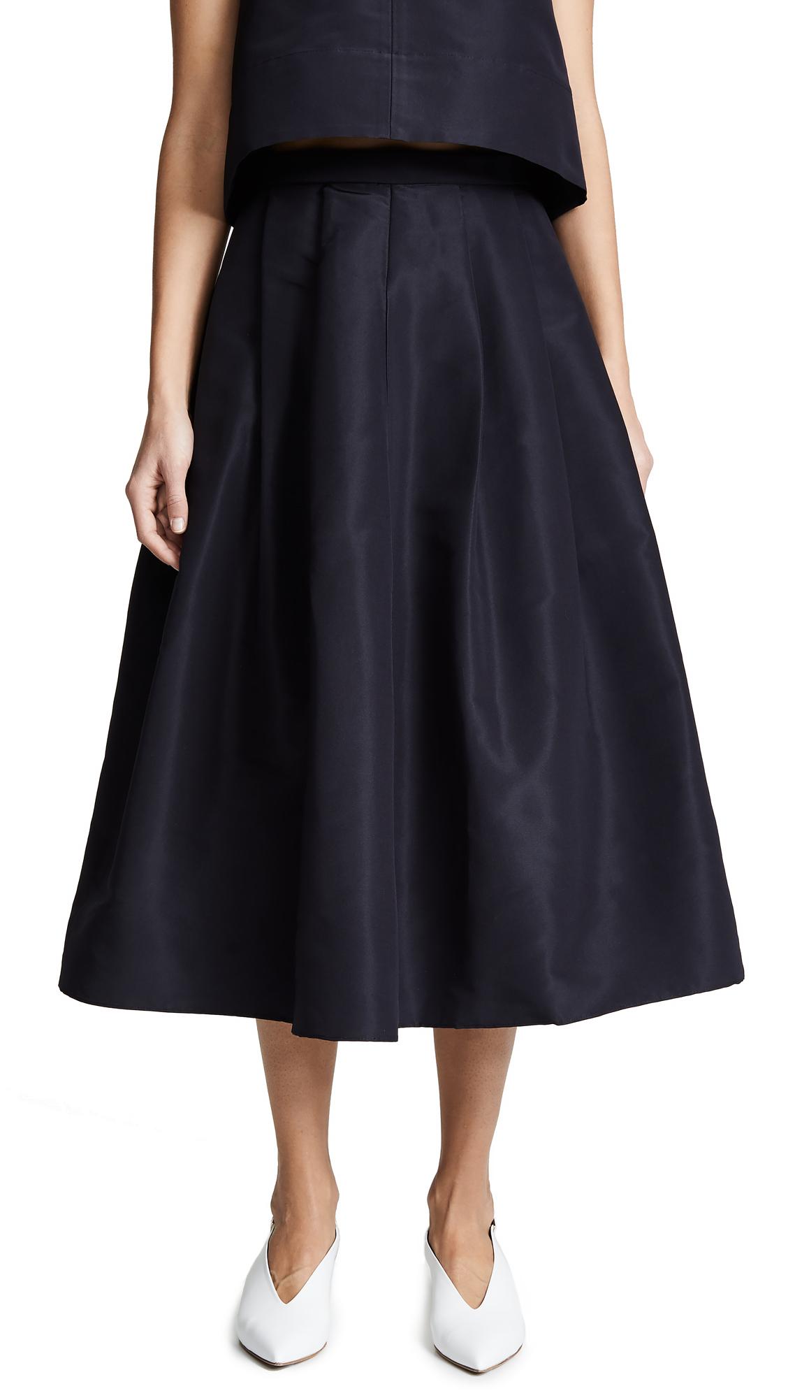 Tibi Full Skirt - Dark Navy