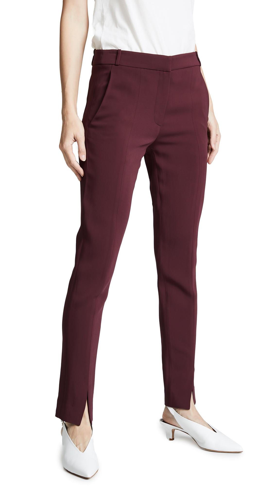 Tibi Beatle Menswear Pants - Dark Currant