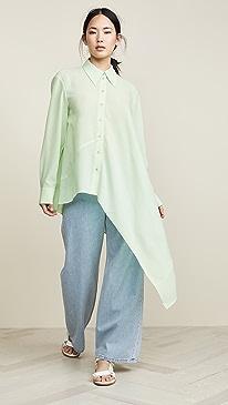 f3a77789cb1 Tibi. Asymmetrical Shirt