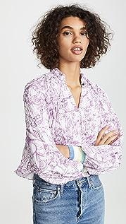Tibi Edwardian 短款罗纹上衣