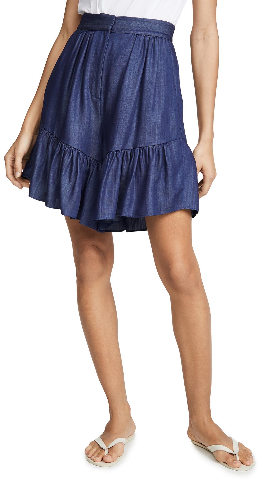 Buy Tibi online - photo of Tibi Ruffle Shorts
