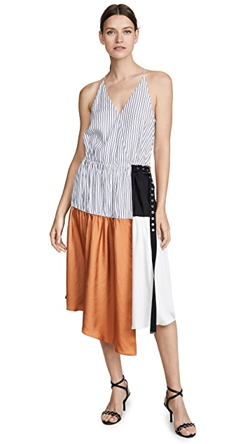 Tibi Wrap Slip Dress