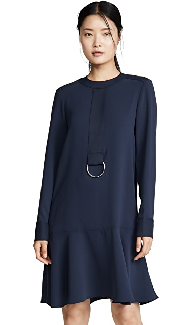 Tibi Yoked Drop Waist Dress