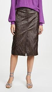Tibi Юбка-брюки с принтом под питона