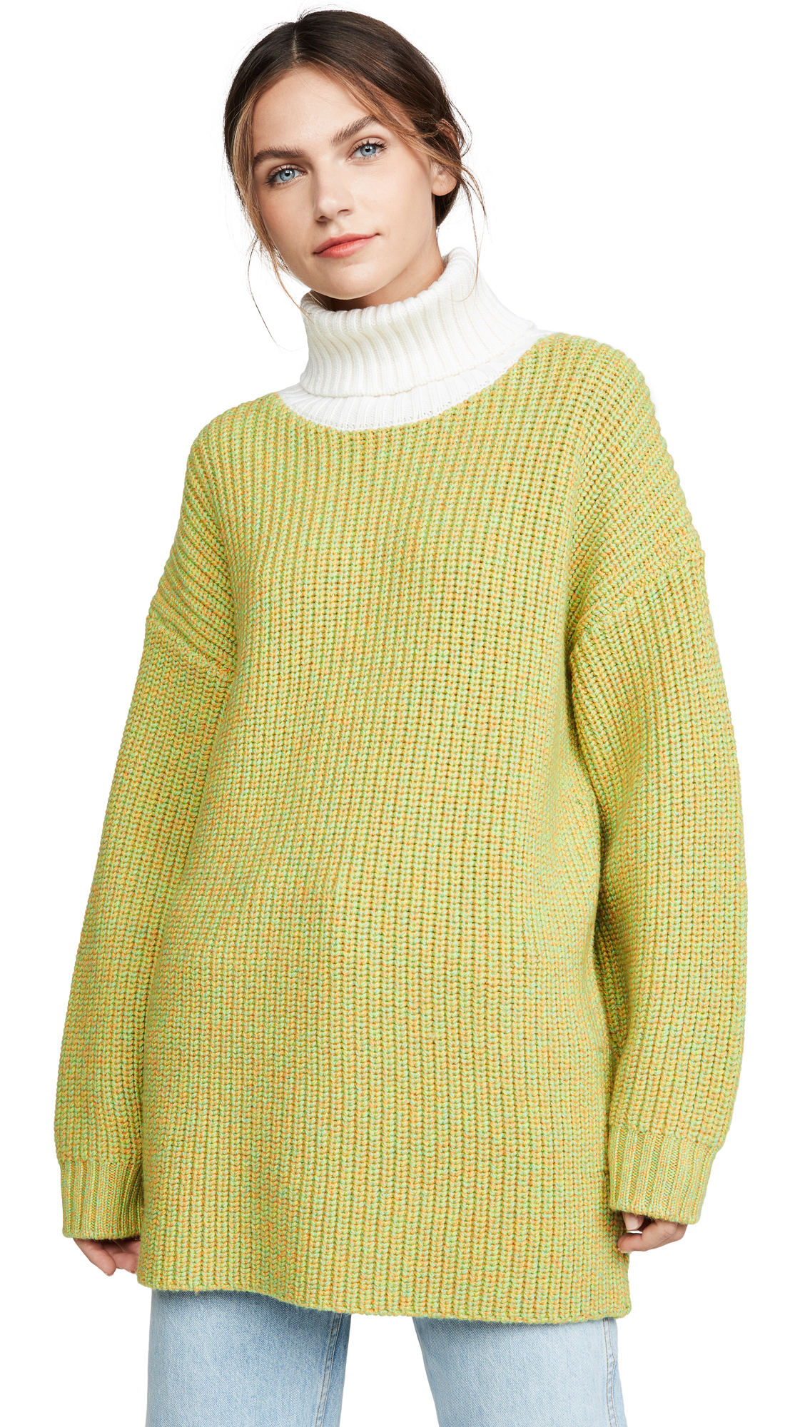 Buy Tibi online - photo of Tibi Oversized Turtleneck Pullover