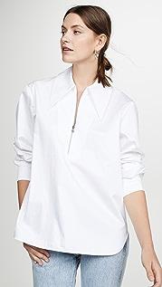 Tibi Рубашка с молнией спереди