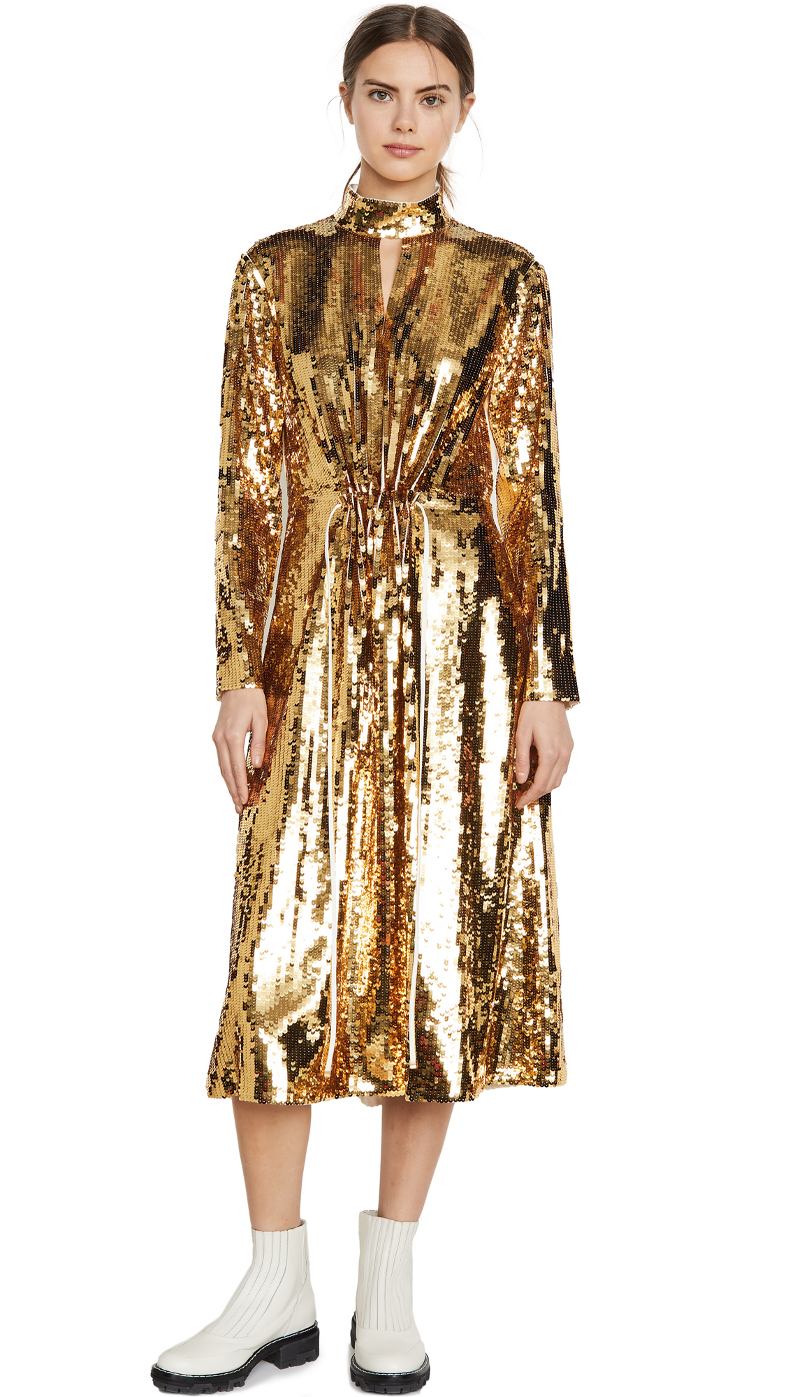 Buy Tibi Split Neck Sequin Dress online beautiful Tibi Dresses, Strapless