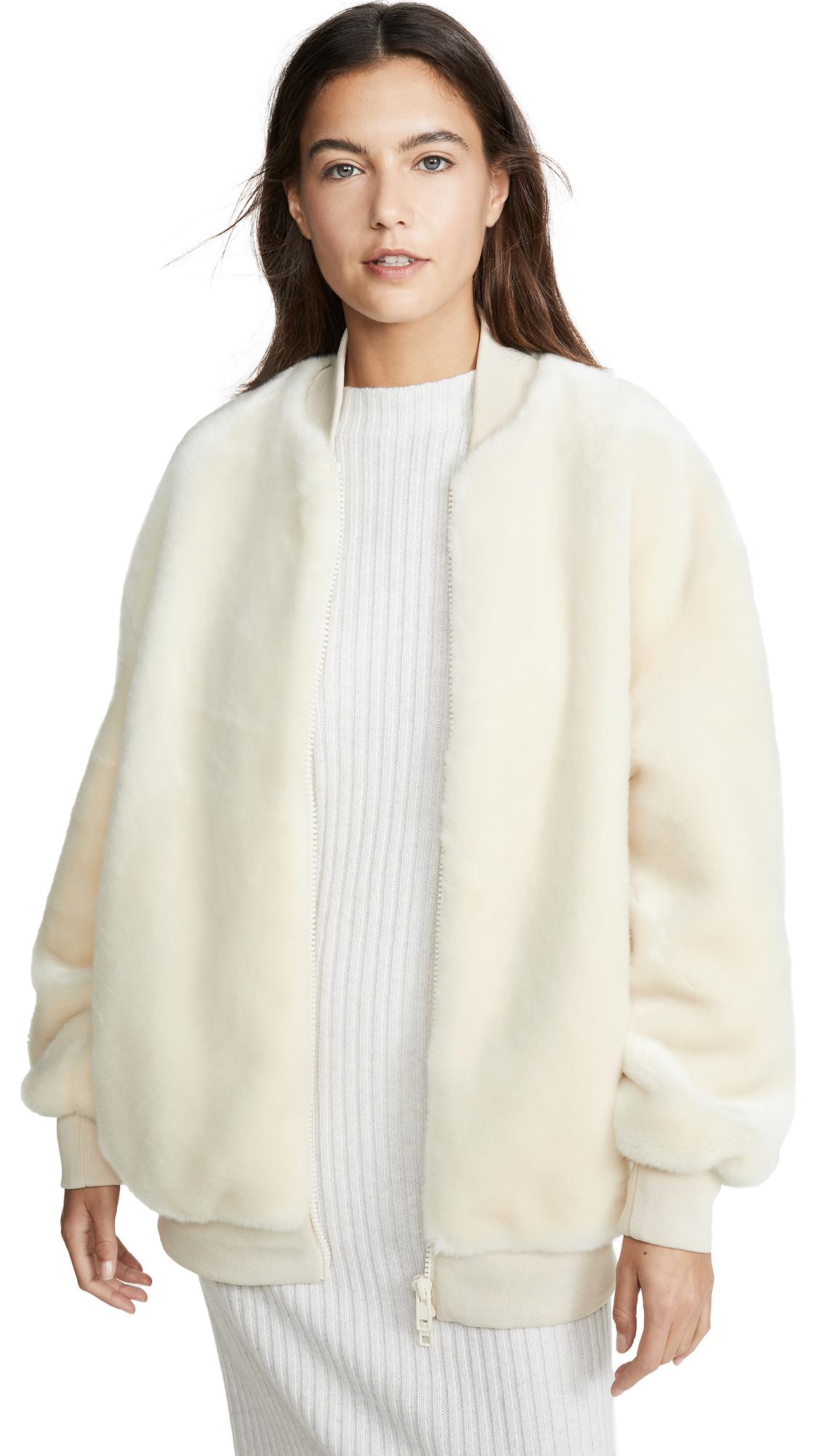 Buy Tibi online - photo of Tibi Zip Up Faux Fur Jacket
