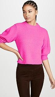Tibi Укороченный пуловер из шерсти альпака