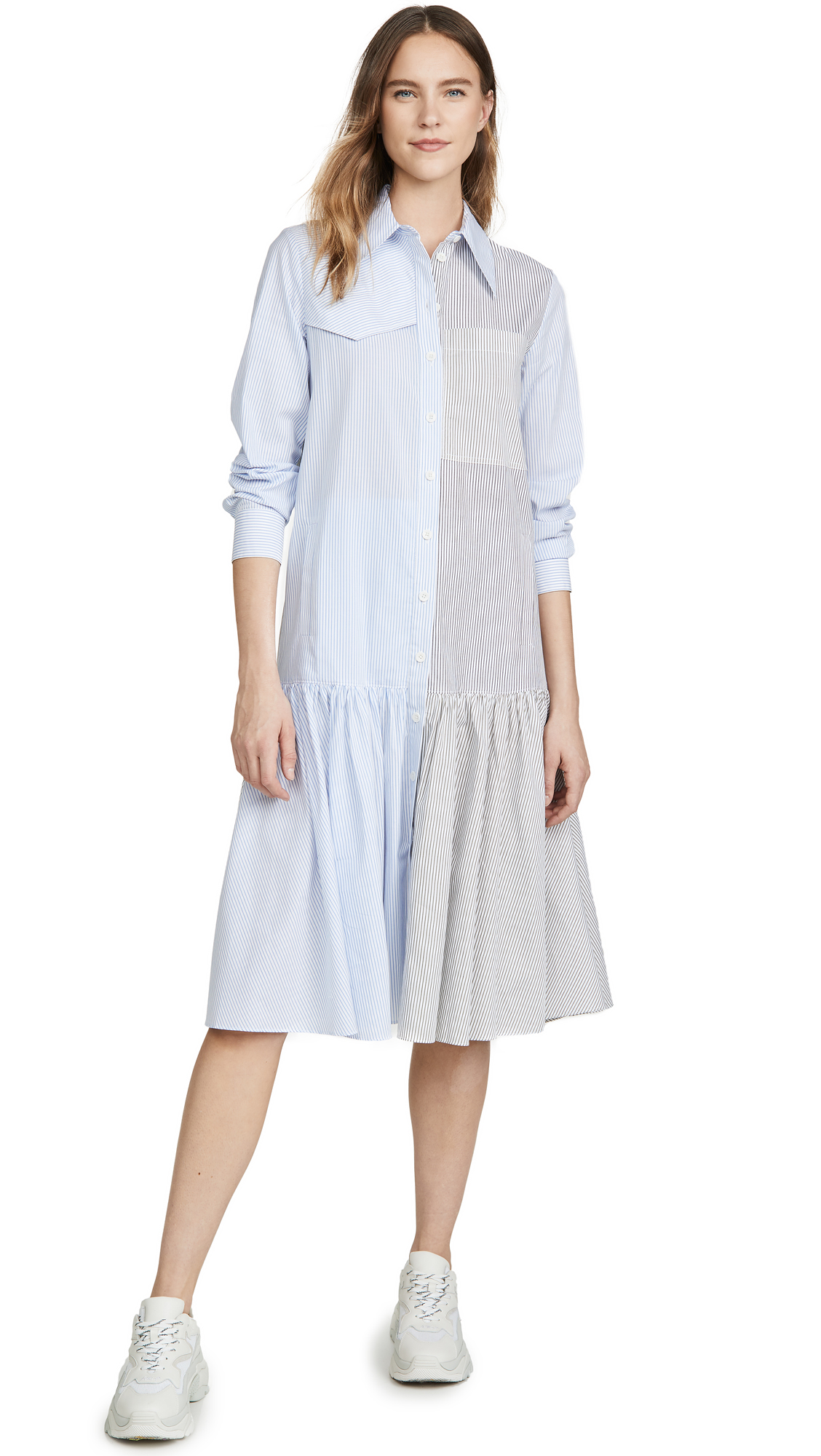 Buy Tibi Colorblock Shirtdress online beautiful Tibi Clothing, Dresses