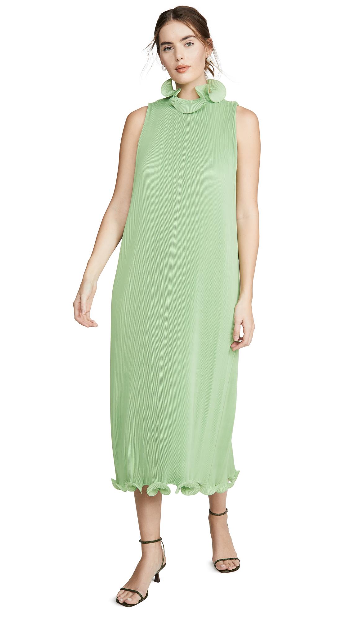 Buy Tibi online - photo of Tibi Sleeveless Pleated Dress