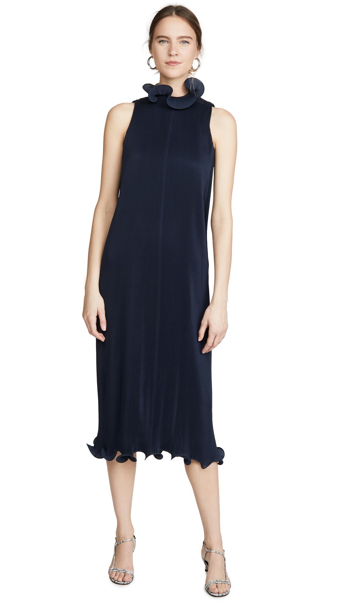 Tibi Sleeveless Pleated Dress – 50% Off Sale