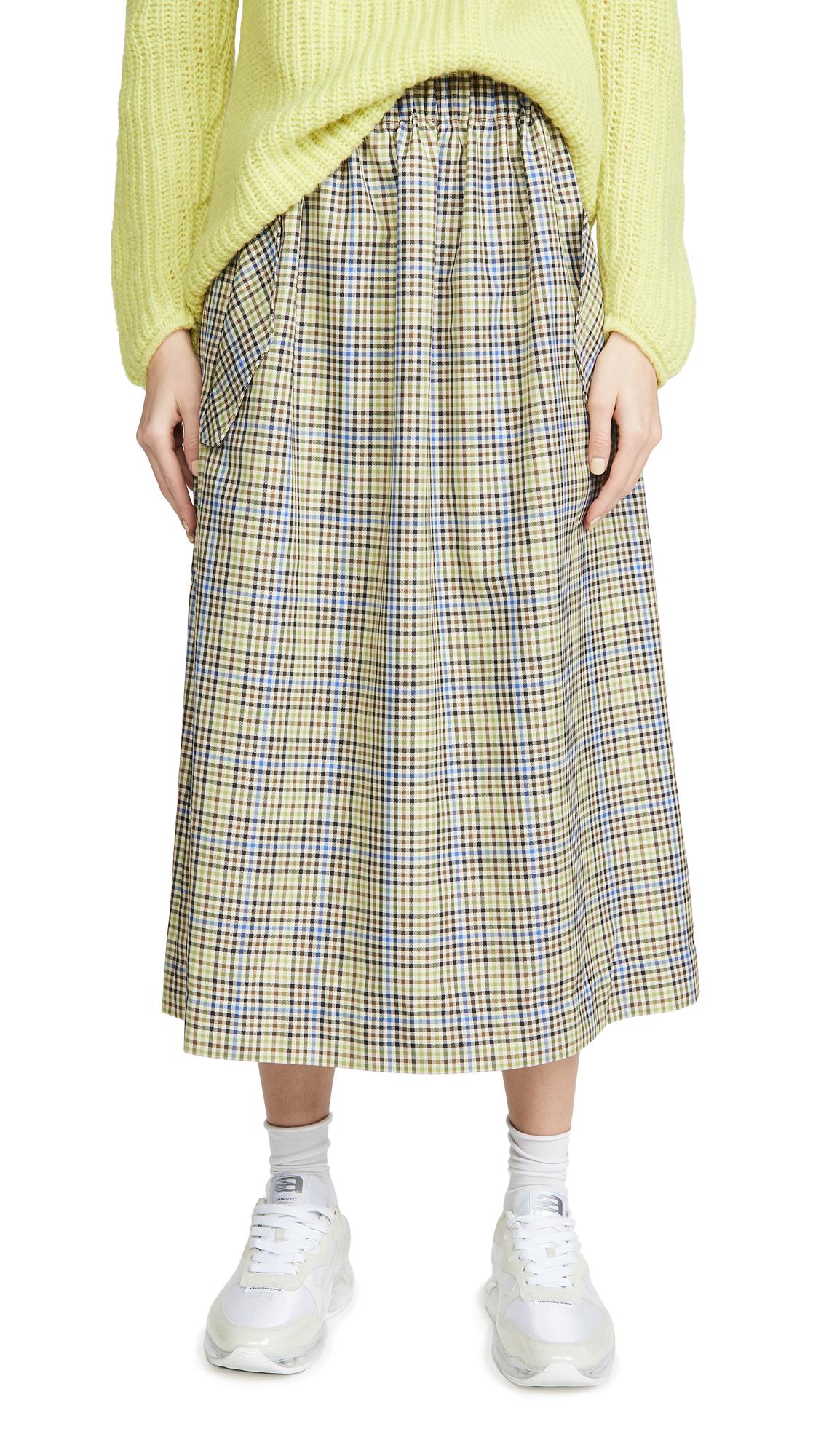Buy Tibi online - photo of Tibi Smocked Waistband Full Skirt