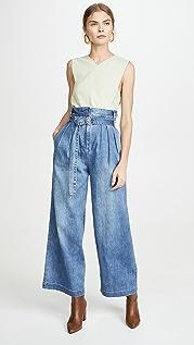 Tibi Stella 全长牛仔裤