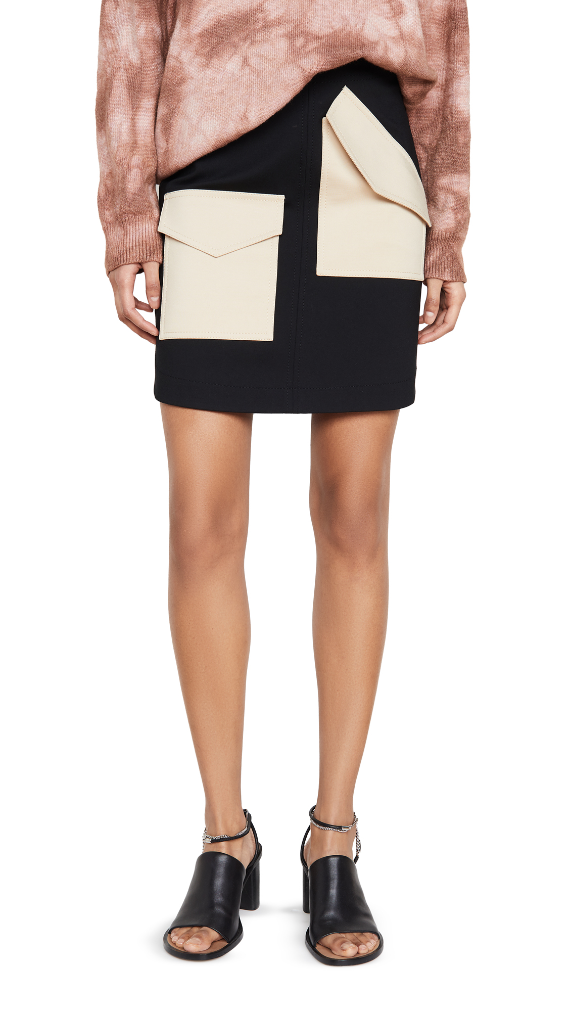 Buy Tibi online - photo of Tibi Bond Stretch Patched Skirt