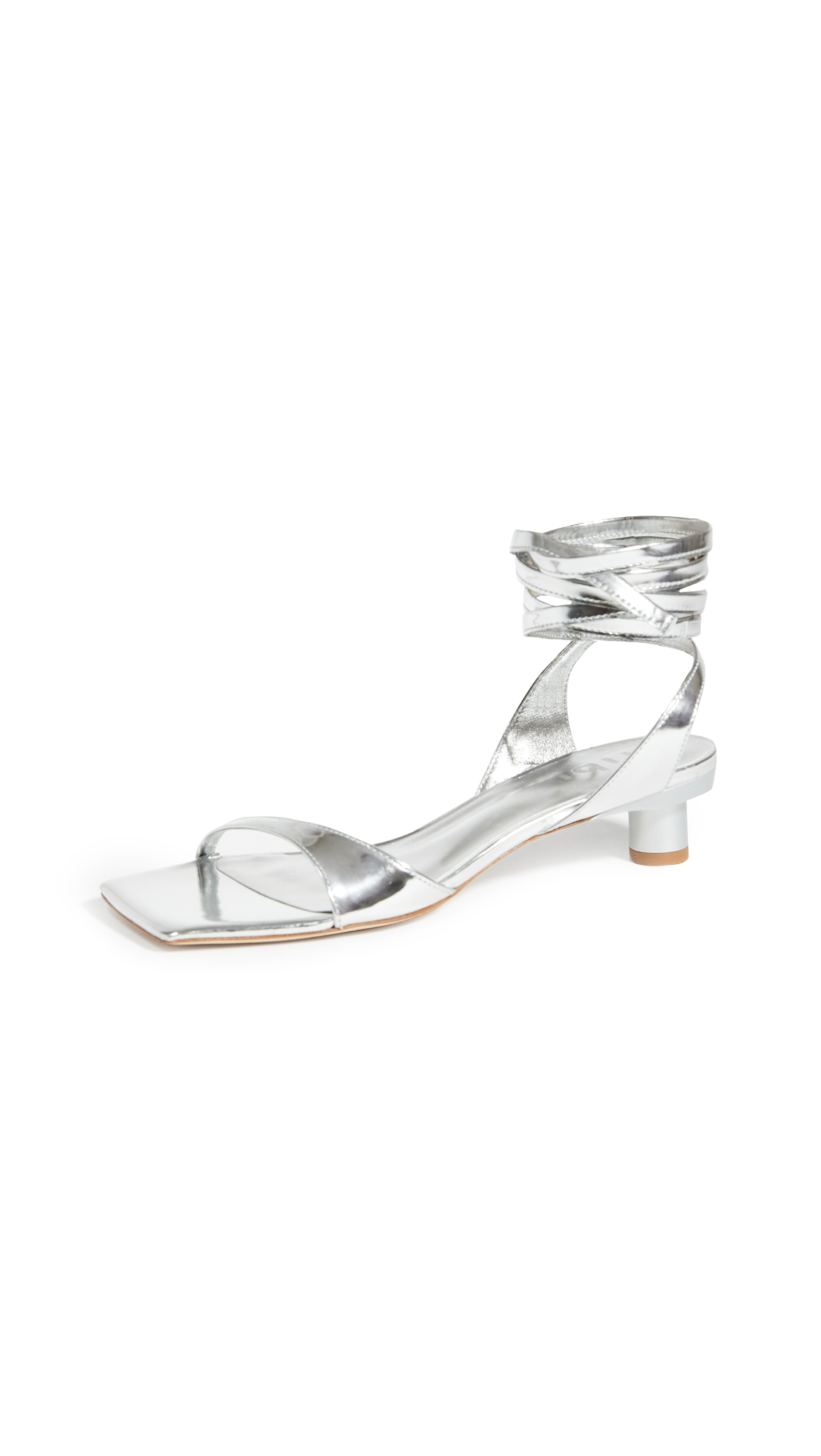 Tibi Jiro Metallic Sandals – 30% Off Sale
