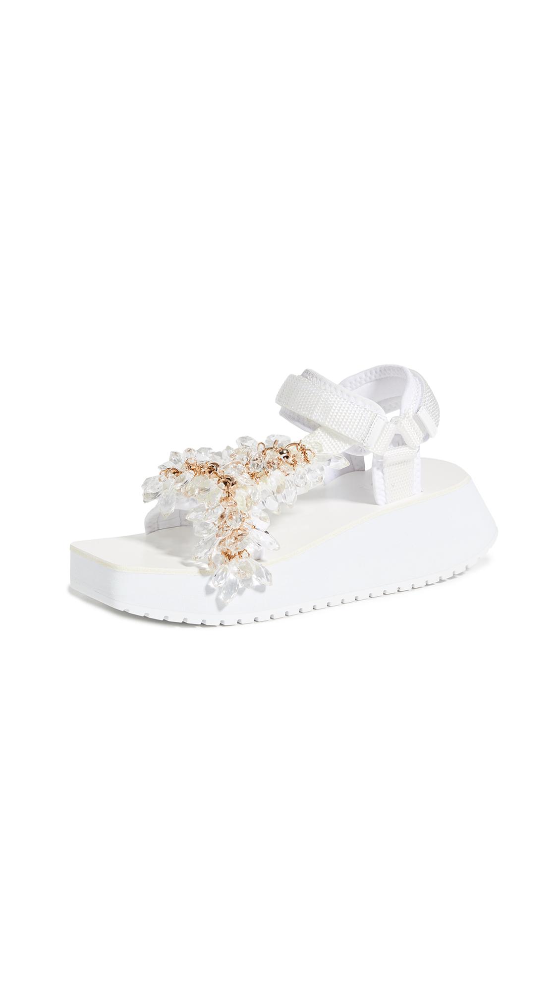 Buy Tibi Ping Jeweled Sandals online, shop Tibi
