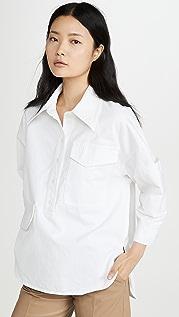 Tibi 超大茧状衬衫