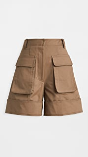 Tibi Cuffed Cargo Shorts