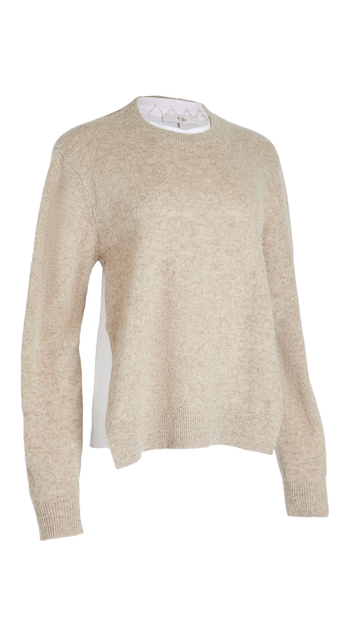 Tibi PULLOVER INSIDE LAYERED T-SHIRT