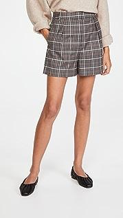 Tibi Gabe Pleated Shorts