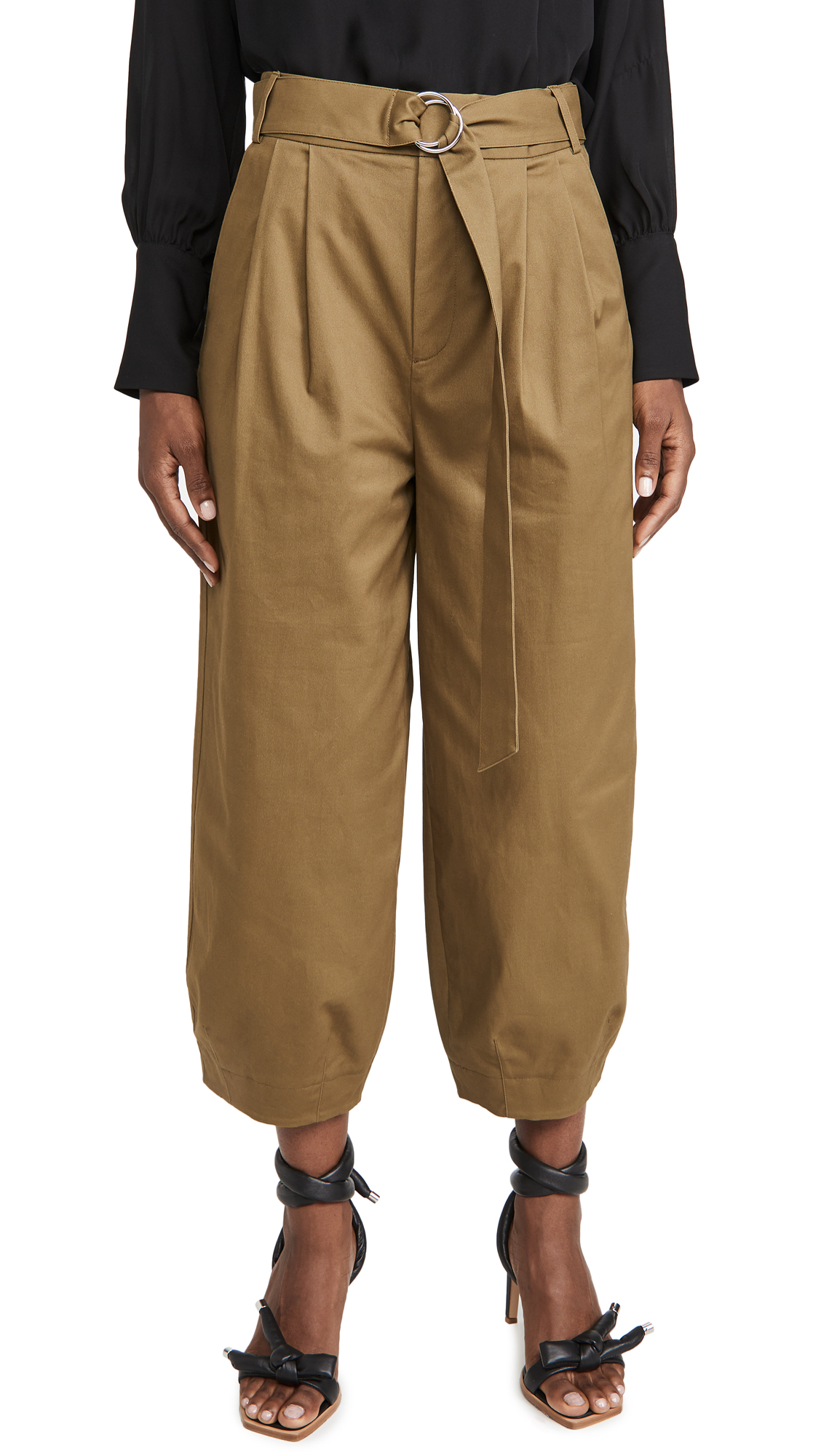 Tibi Cottons STELLA ANKLE LENGTH SCULPTED PANTS