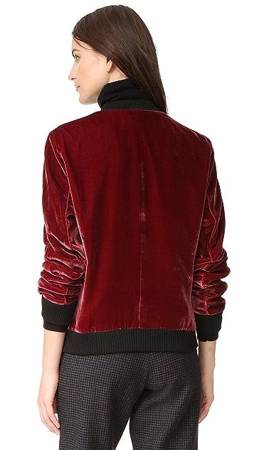 Timo Weiland Ryan Velvet Bomber Jacket