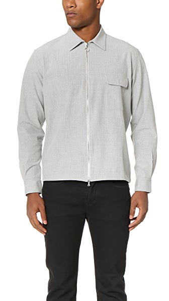 Timo Weiland Drew Zip Front Shirt Jacket
