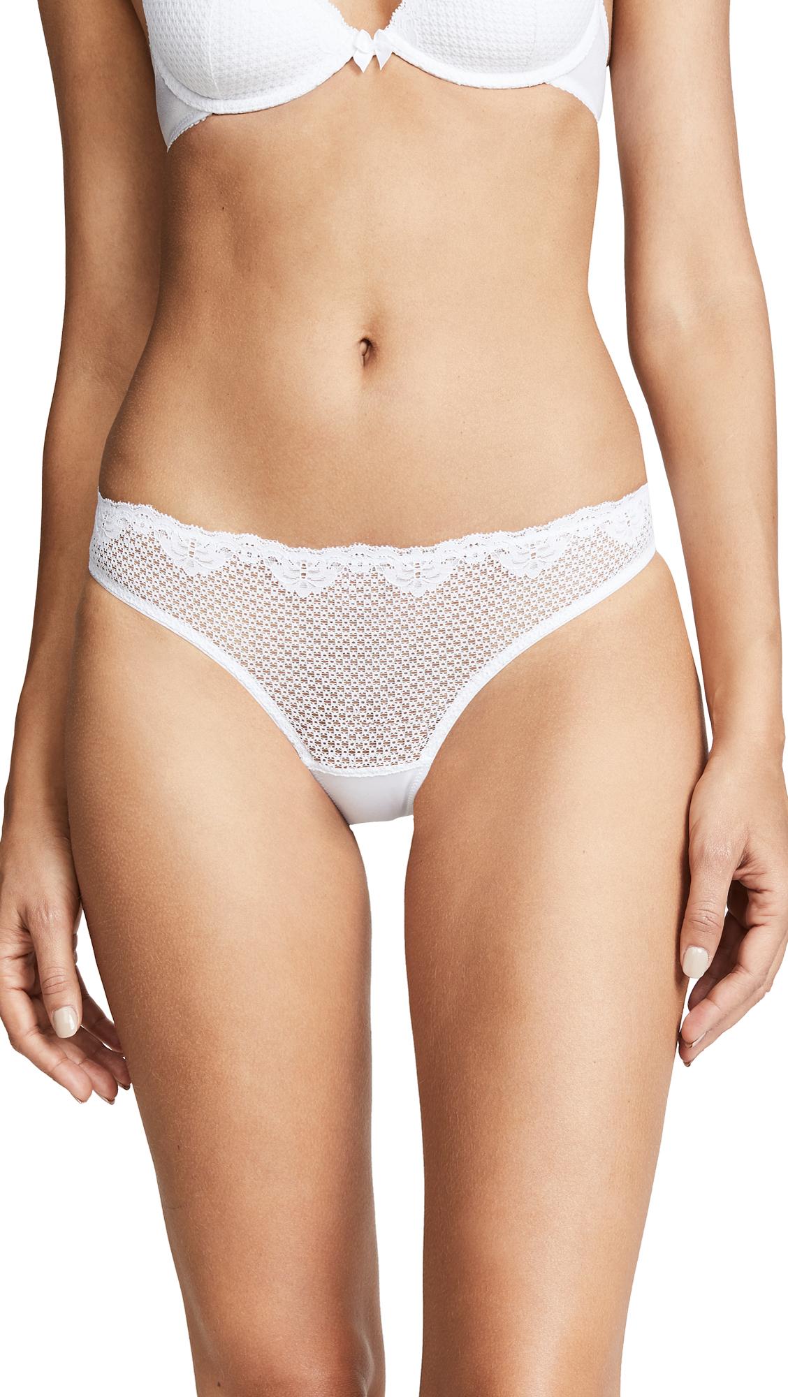 Timpa Duet Lace Low Cut Thong - White