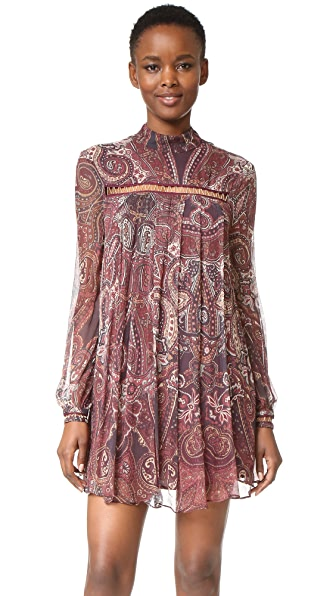 The Jetset Diaries Labyrinth Paisley Mini Dress