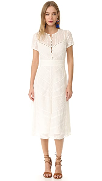 The Jetset Diaries Getaway Midi Dress - Ivory