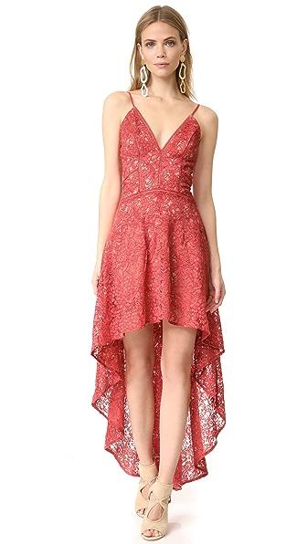 The Jetset Diaries Rava Lace High-Low Dress - Apricot