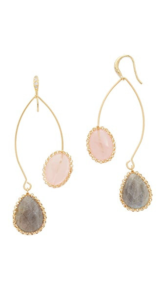 Theia Jewelry Darcy Earrings - Gold Multi