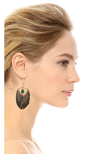 Theia Jewelry Modern Three Layer Tassel Earrings