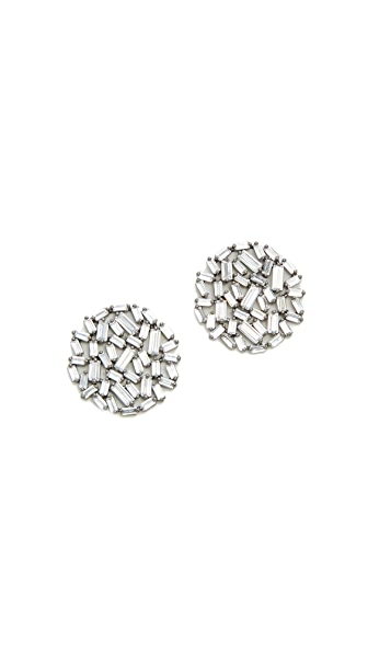 Theia Jewelry Hestia Round Button Earrings