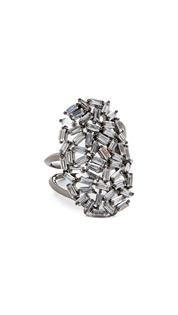 Theia Jewelry Hestia Adjustable Oval Disc Ring