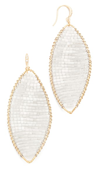 Theia Jewelry Twisted Oval Woven Earrings