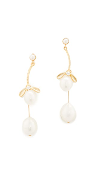 Theia Jewelry Two Tier Freshwater Cultured Pearl Drop Earrings